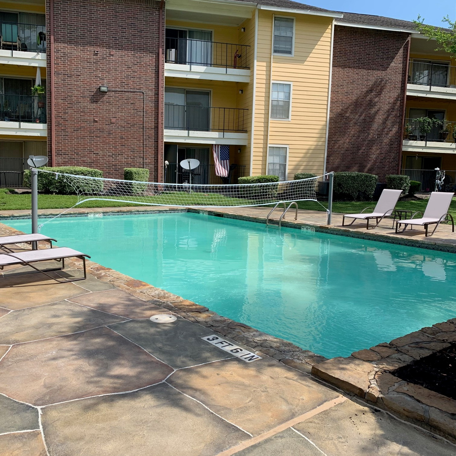 Volleyball Pool at Copper Cove Apartments in Houston, Texas