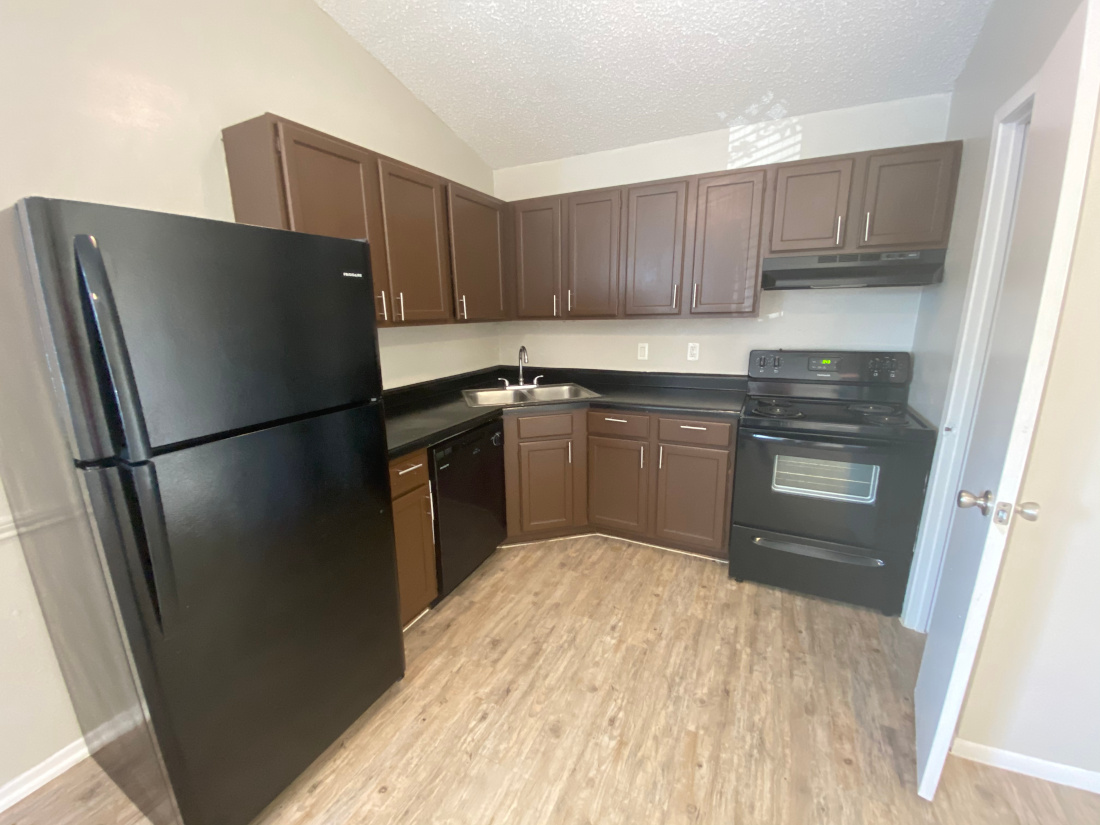 Fully Equipped Kitchen at Cornerstorne Apartments in San Antonio, TX