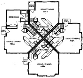 Cornhill Townhouse and Garden Apartments - Floorplan - Townhouse 1st Level