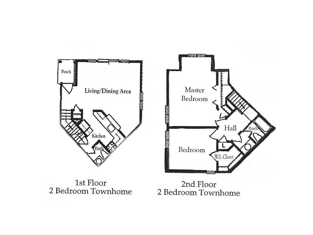 Corn Hill Townhouses & Apartments - Floorplan - Townhouse