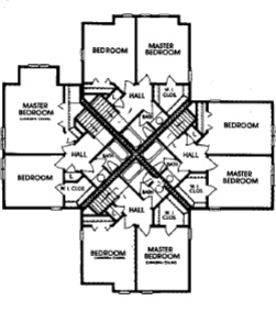 Cornhill Townhouse and Garden Apartments - Floorplan - Townhouse 2nd level