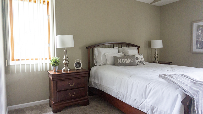 Master Bedroom at Corn Hill Townhouses & Apartments in Rochester, New York