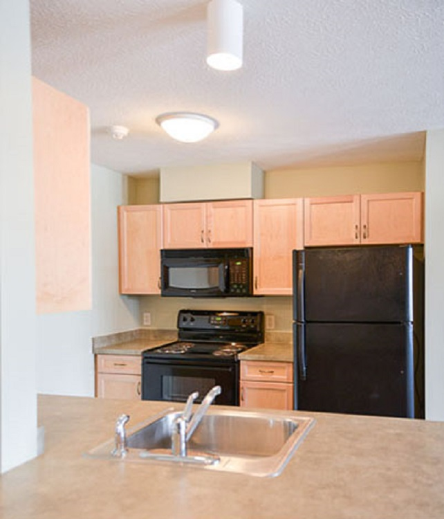 Kitchen Interior at the Cornhill Landing Apartments in Rochester, NY