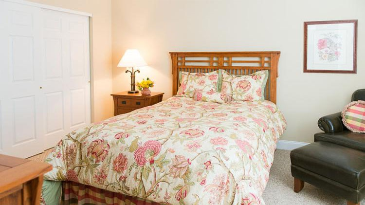 Bedroom at the Cornhill Landing Apartments in Rochester, NY