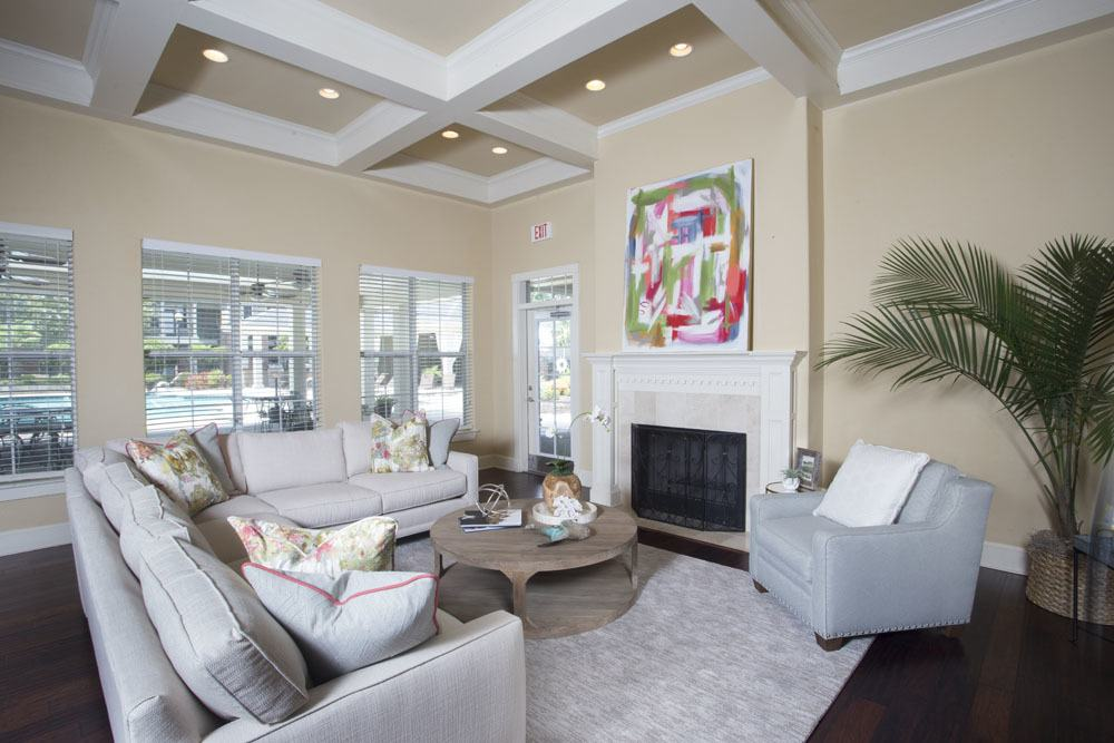 Elegant Clubhouse at Country Club Pointe Apartments Homes in Lake Charles, LA