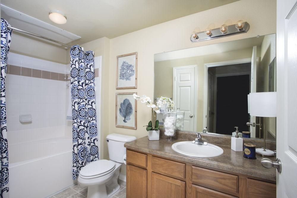 Single Vanity Bathroom at Country Club Pointe Apartments Homes in Lake Charles, LA