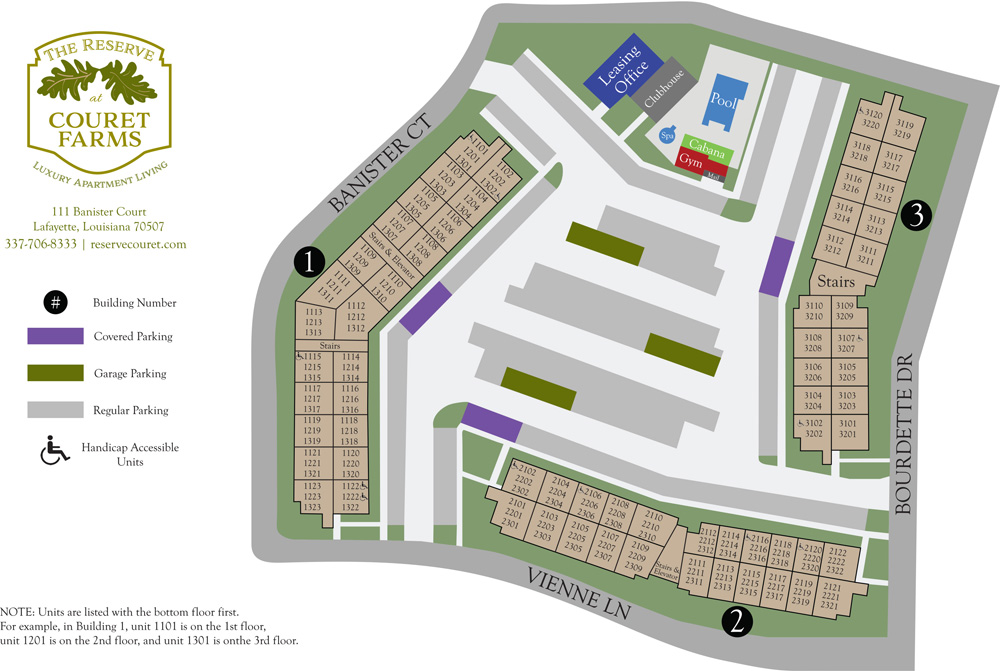 The Reserve at Couret Farms Site Plan