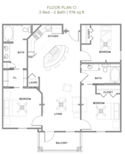 The Reserve at Couret Farms - Floorplan - C1