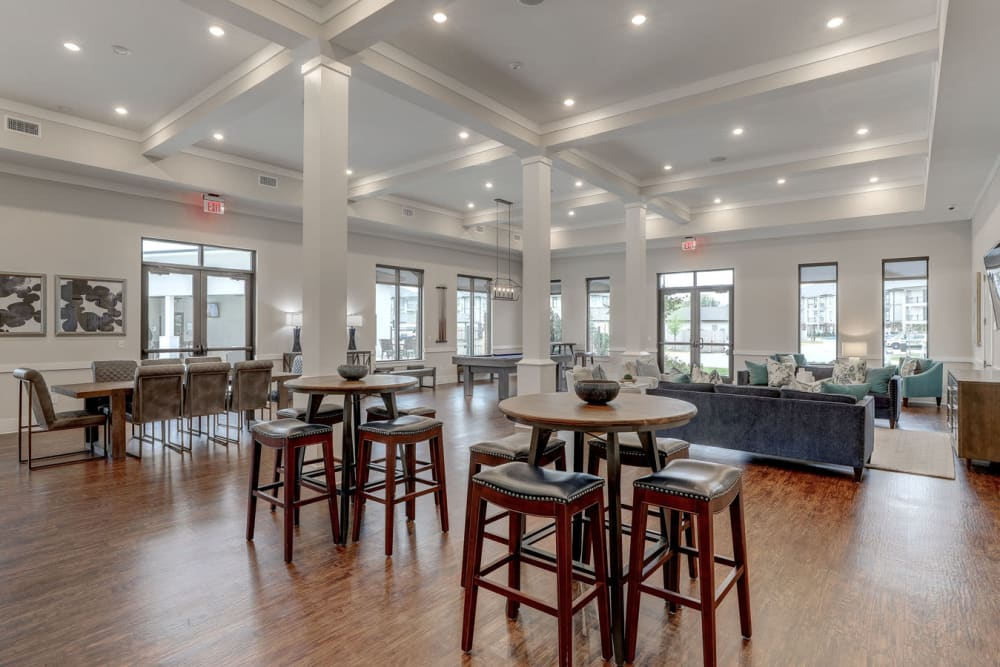 Elegant Clubhouse at The Reserve at Couret Farms Apartments in Lafayette, LA