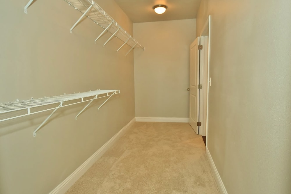 Spacious Closet at The Reserve at Couret Farms Apartments in Lafayette, LA