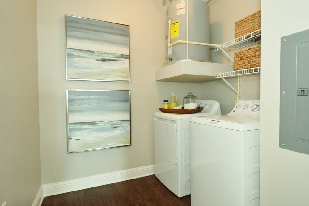 Washer and Dryer at The Reserve at Couret Farms Apartments in Lafayette, LA