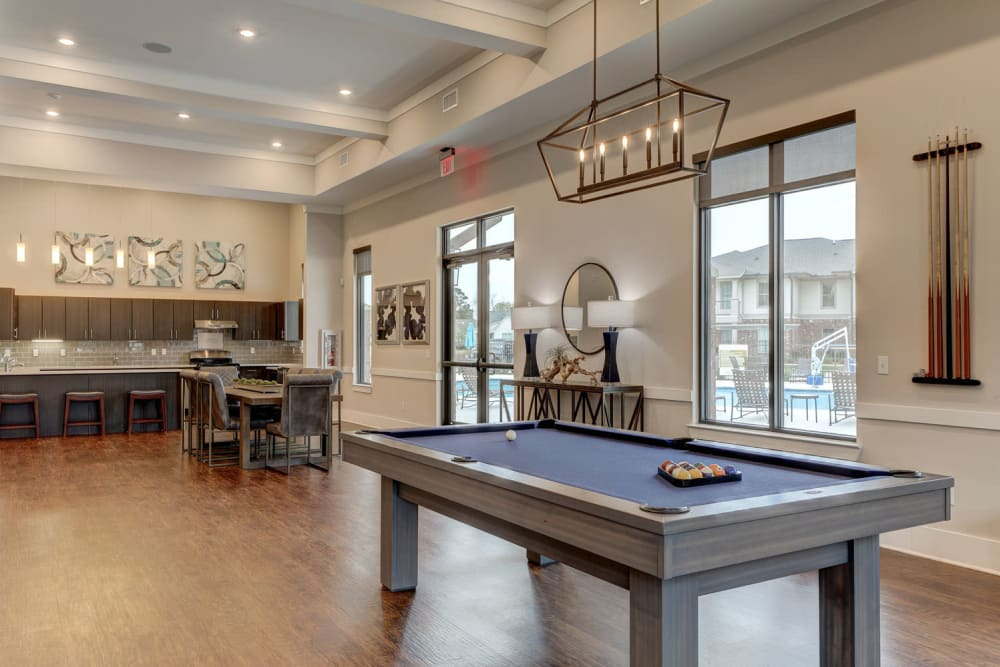 Pool Table at The Reserve at Couret Farms Apartments in Lafayette, LA