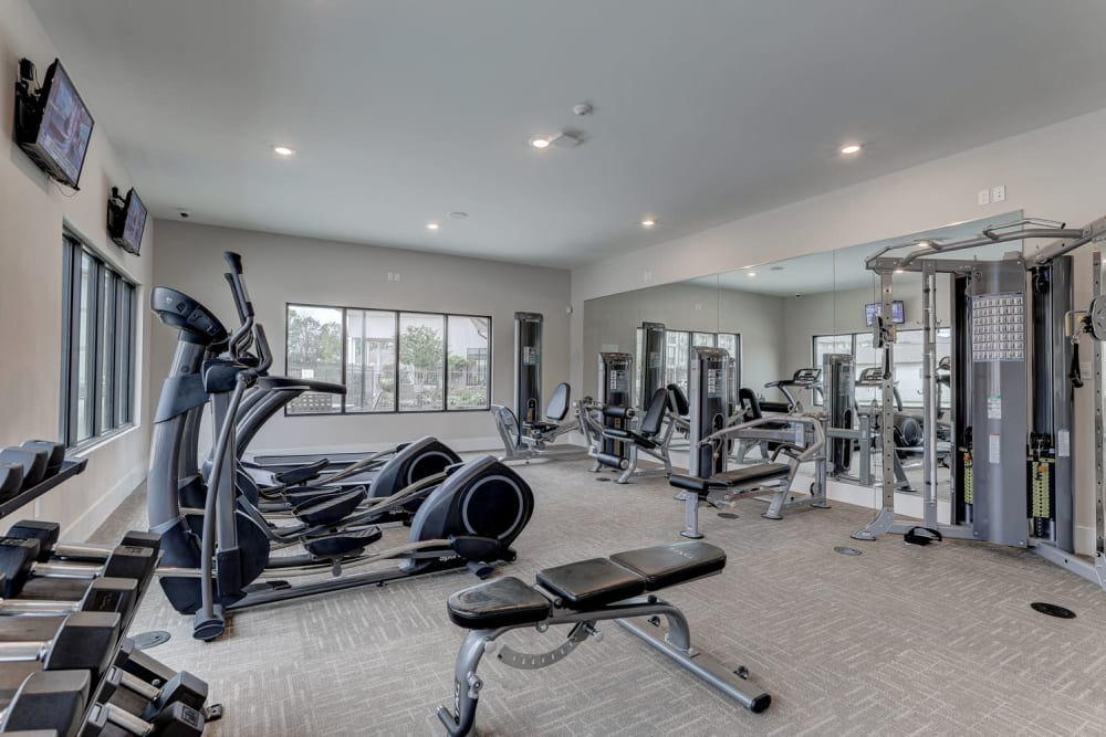 Fitness Center at The Reserve at Couret Farms Apartments in Lafayette, LA