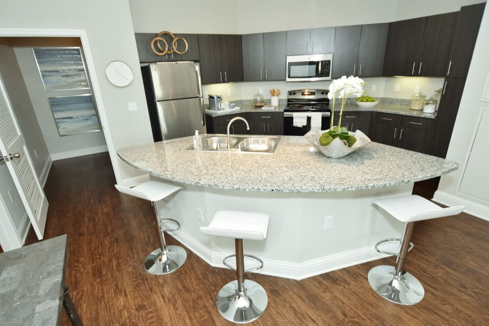 Fully Equipped Kitchen at The Reserve at Couret Farms Apartments in Lafayette, LA