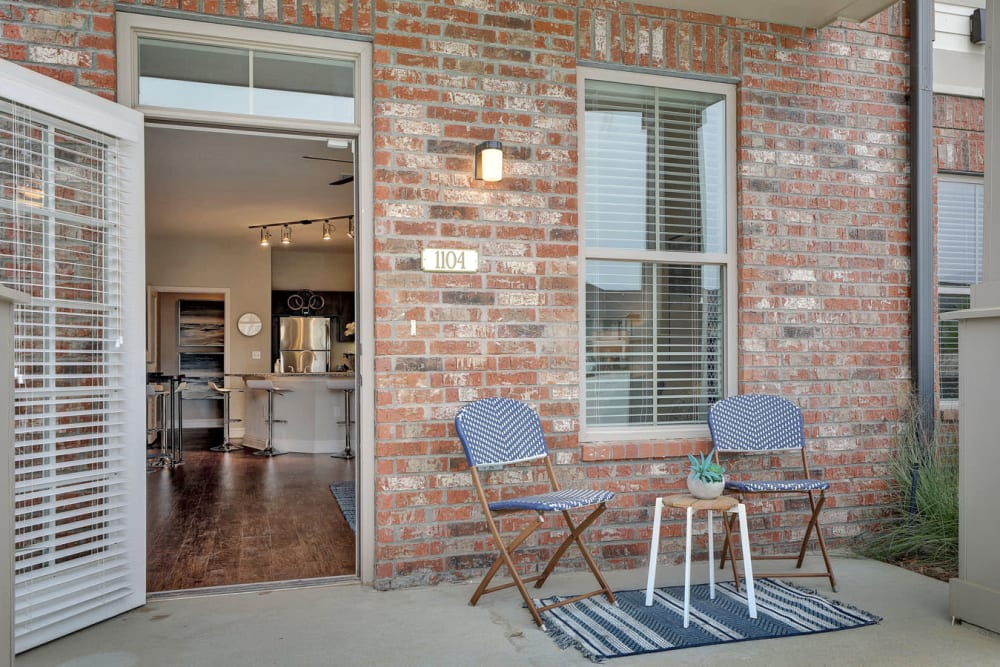 Private Patio at The Reserve at Couret Farms Apartments in Lafayette, LA