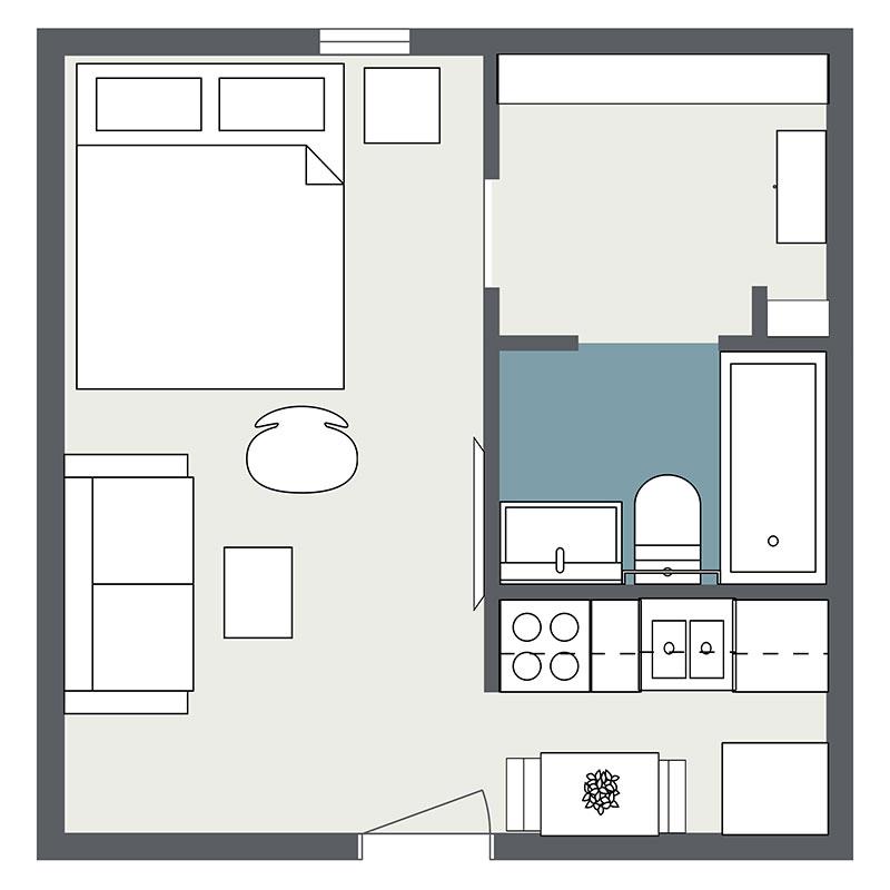 Floorplan - Studio image