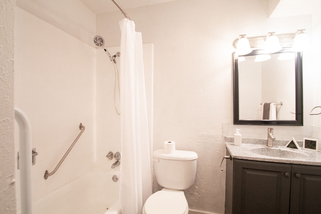 Full-Size Bathrooms Equipped with Hand Rails at Couryard Park in Abilene, Texas