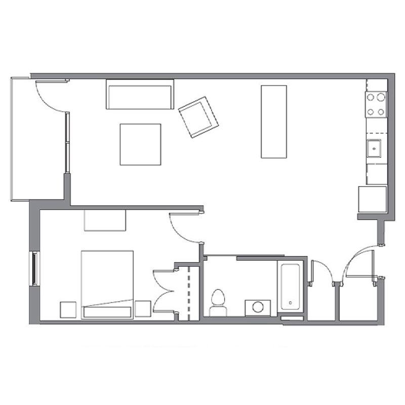 Floorplan - Greenwich Village - B image