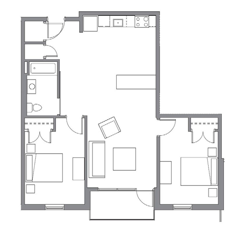 CP Lofts - Floorplan - Brooklyn - B