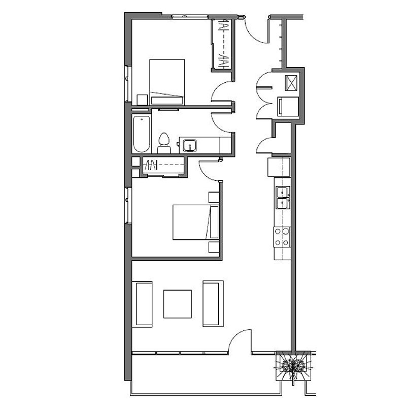 CP Lofts - Floorplan - Montmarte - C