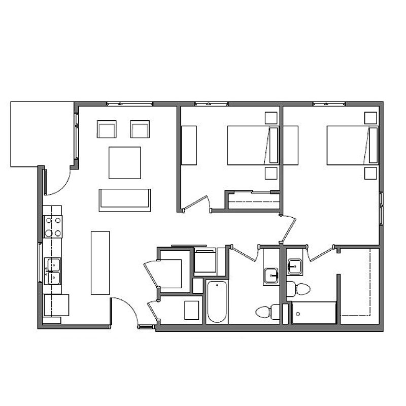 Floorplan - Dessau - Affordable image