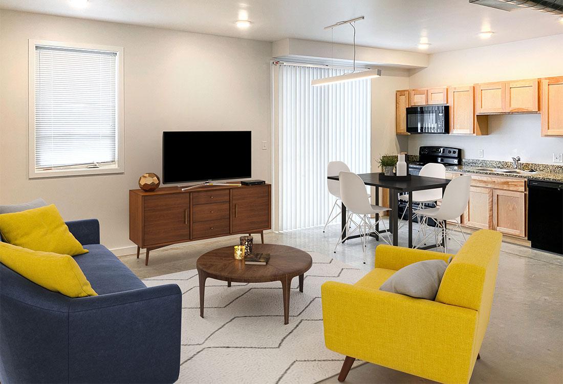 Spacious Apartments at CP Lofts Apartments in Kansas City, MO.