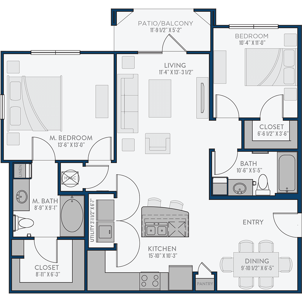 Creekside Crossing - Floorplan - The Erwin