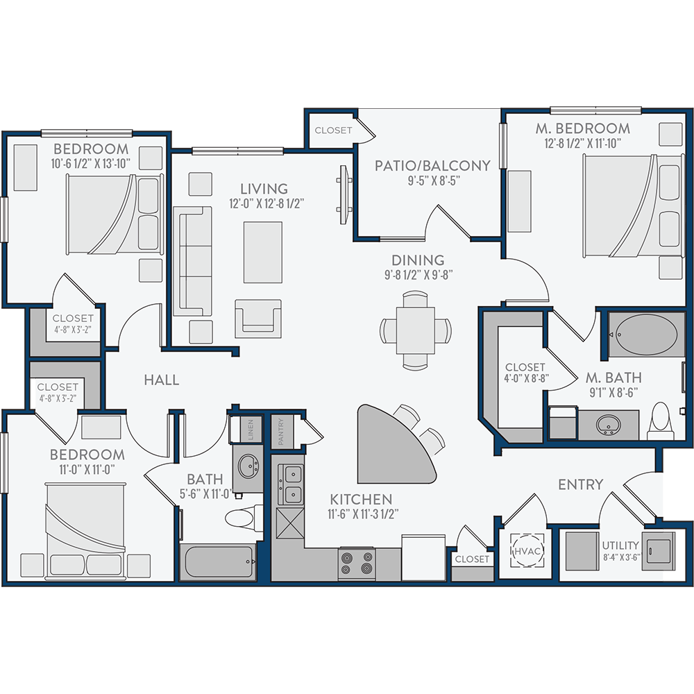 Creekside Crossing - Floorplan - The Landreneau