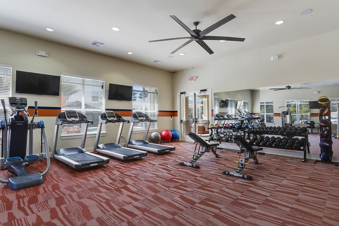 Fully-Equipped Gym at Creekside Crossing in Walker, Louisiana