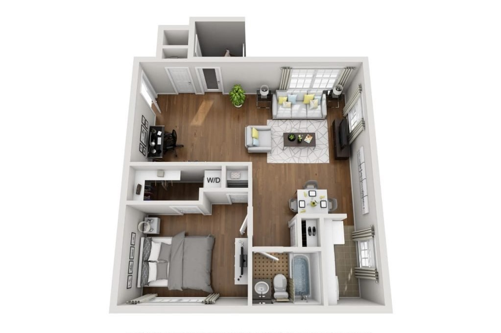 Crestwood Place Apartments - Floorplan - A1
