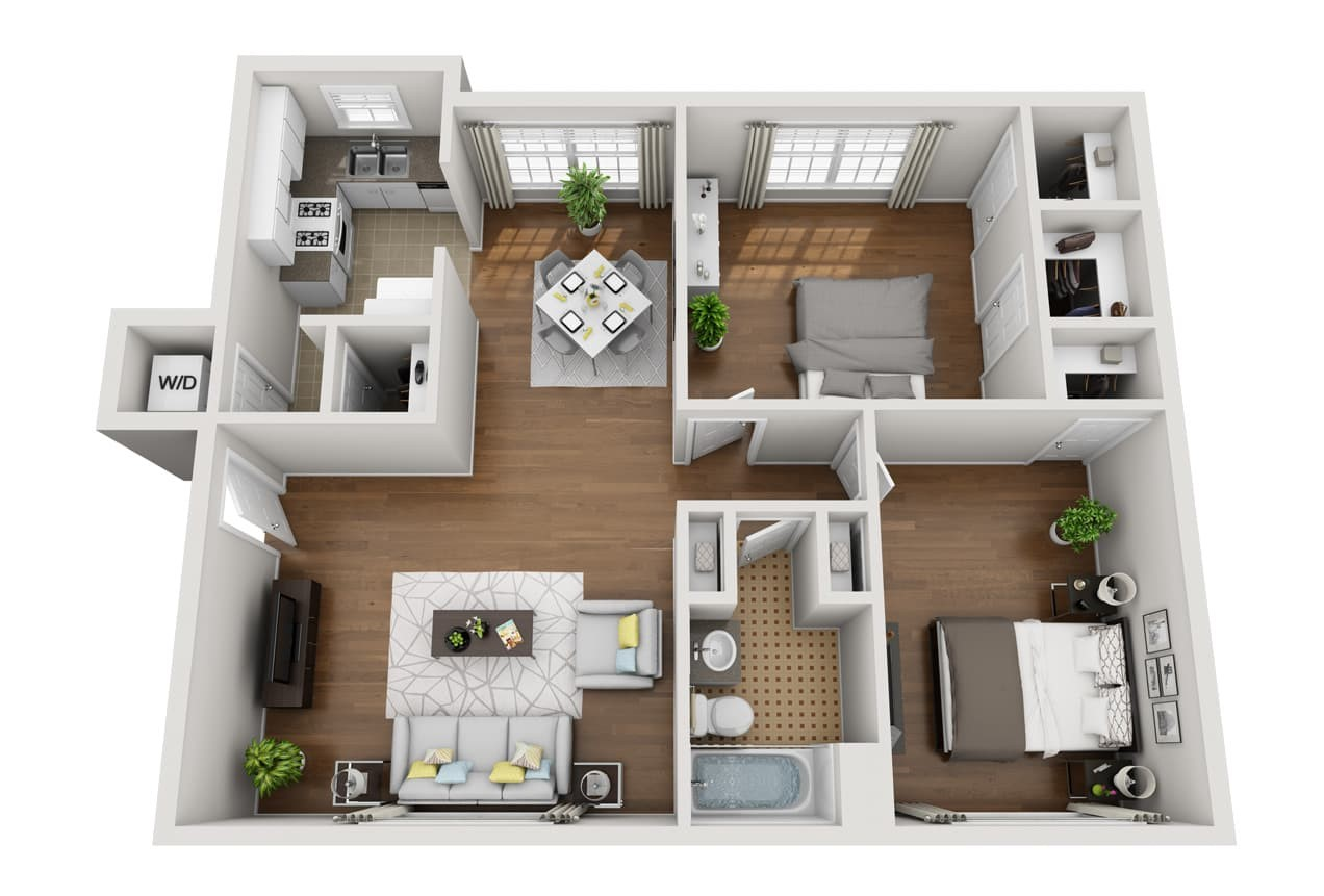 Crestwood Place Apartments - Floorplan - B4