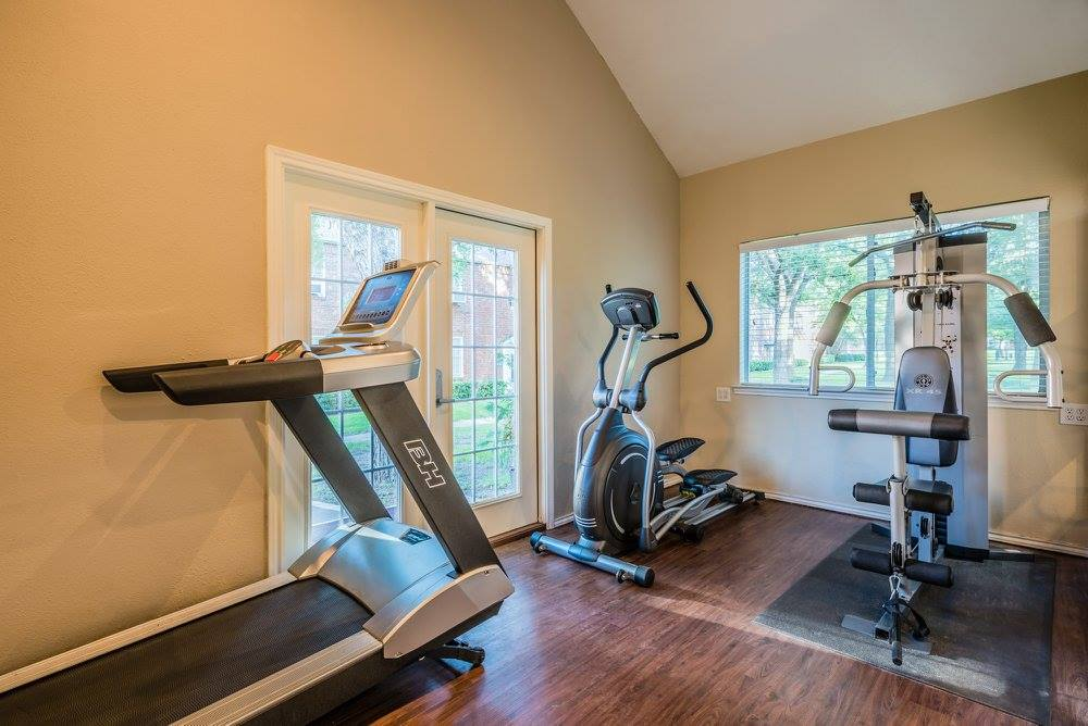 Fitness Center at Crestwood Place Apartments in Fort Worth, TX