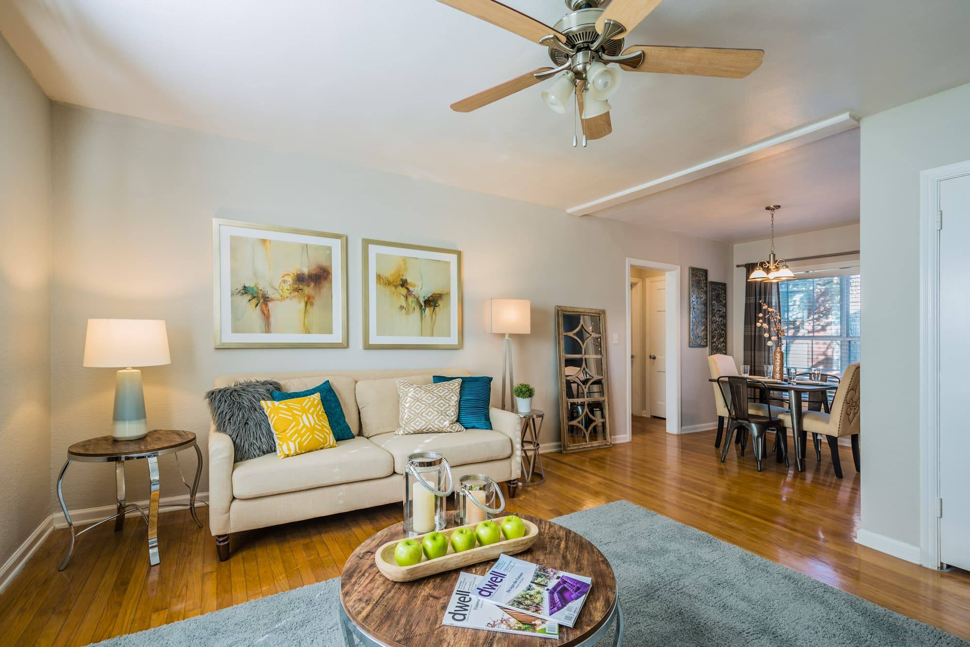 Neutral Color Scheme at Crestwood Place Apartments in Fort Worth, TX