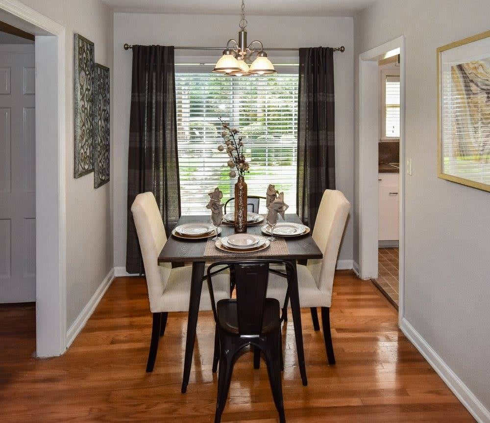 Separate Dining Area at Crestwood Place Apartments in Fort Worth, TX