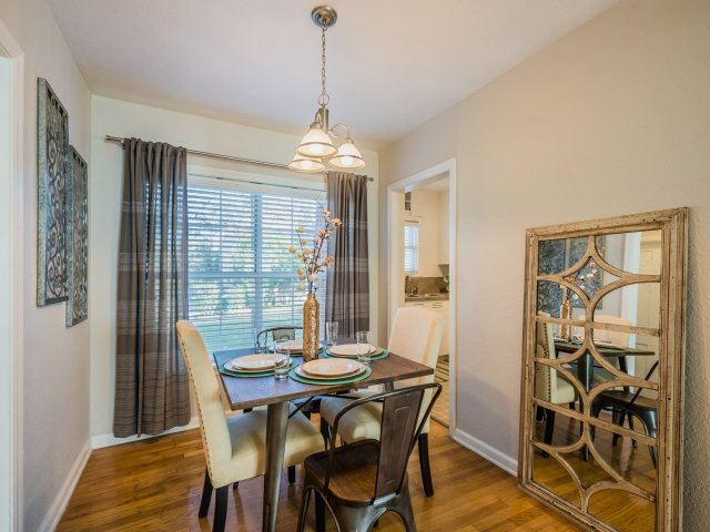 Dining Room at Crestwood Place Apartments in Fort Worth, TX