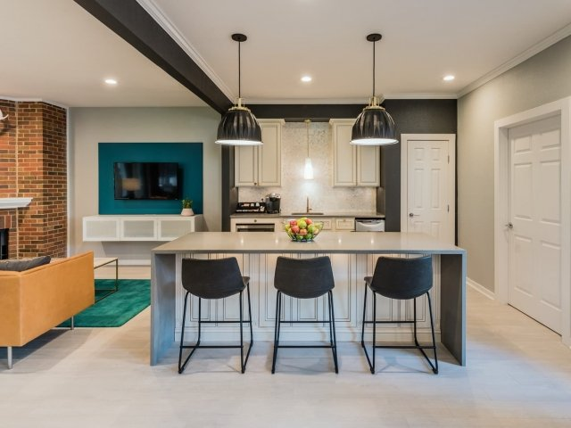 Clubhouse with Kitchen at Crestwood Place Apartments in Fort Worth, TX