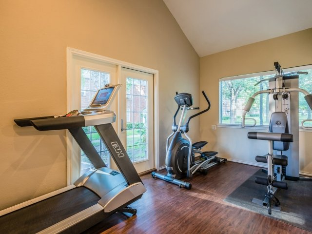 Professional Gym Equipment at Crestwood Place Apartments in Fort Worth, TX