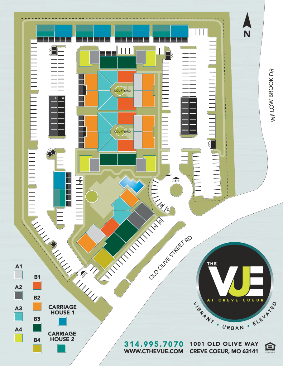 The Vue at Creve Coeur Site Plan