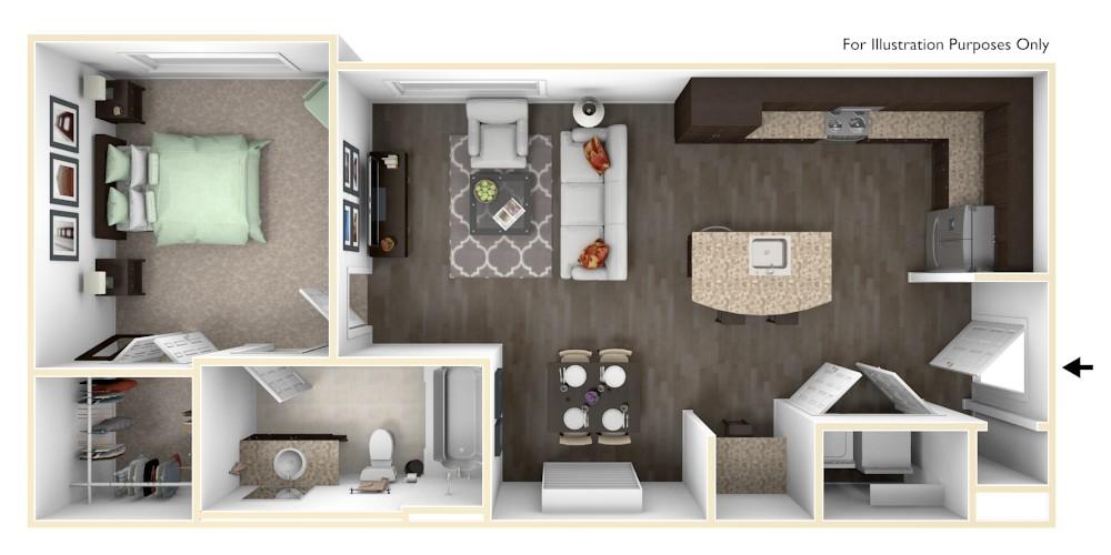 The Vue at Creve Coeur Apartments - Floorplan - A1