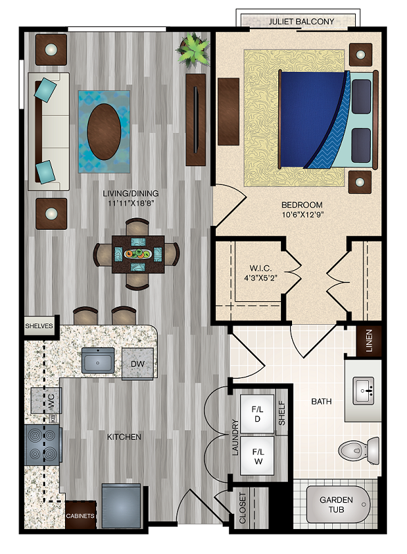 The Vue at Creve Coeur Apartments - Floorplan - A2