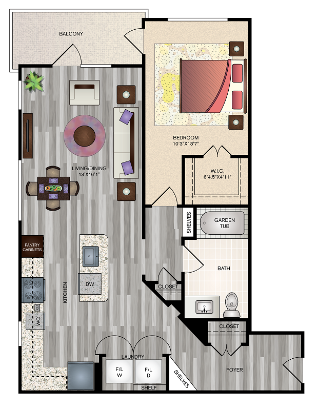 The Vue at Creve Coeur Apartments - Floorplan - A4
