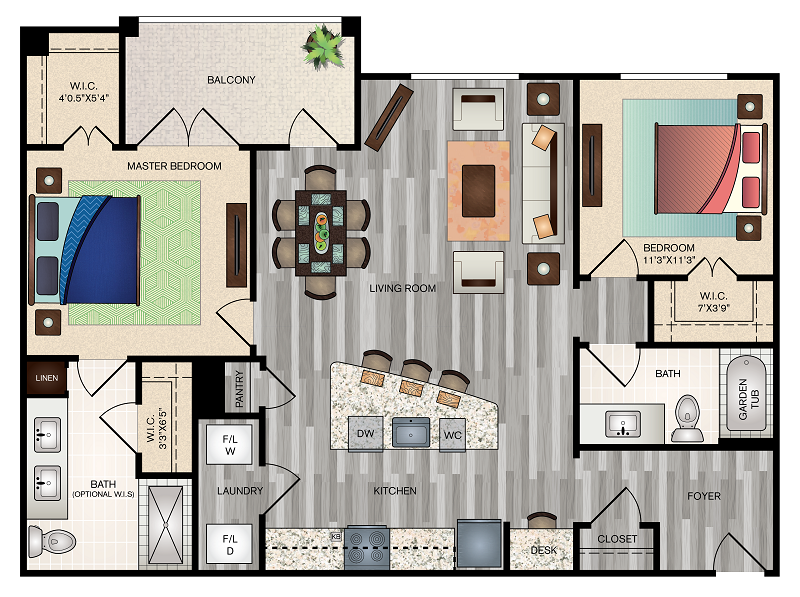 The Vue at Creve Coeur - Floorplan - B3