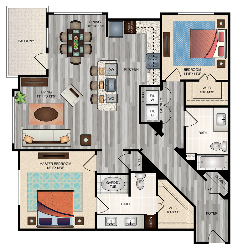 The Vue at Creve Coeur Apartments - Floorplan - B4