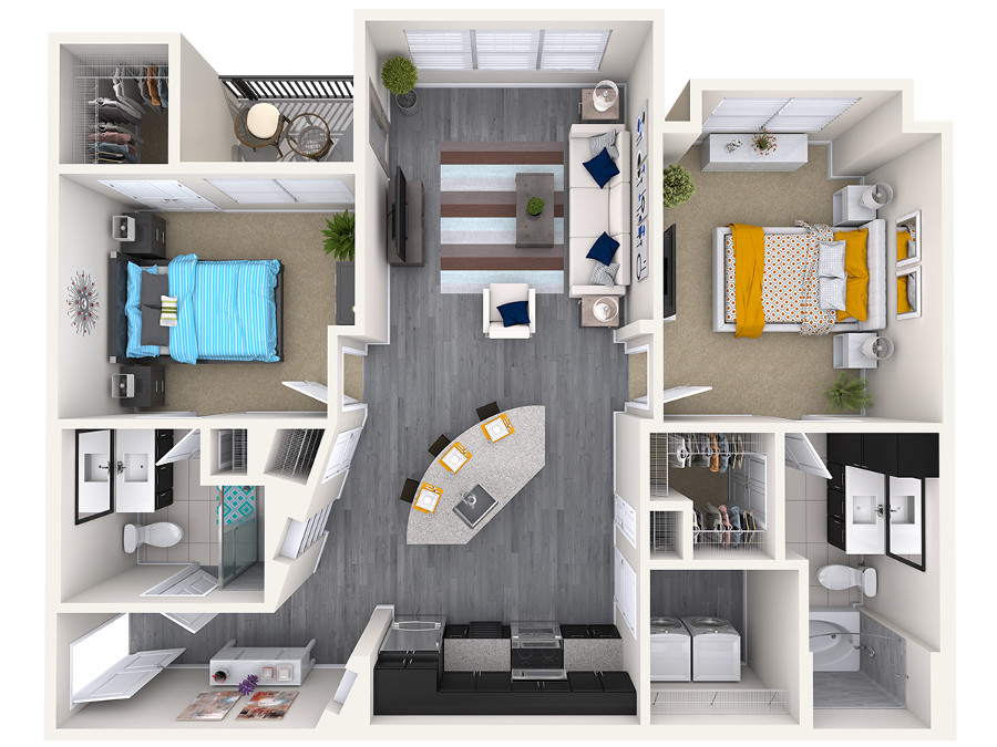 The Vue at Creve Coeur Apartments - Floorplan - B2