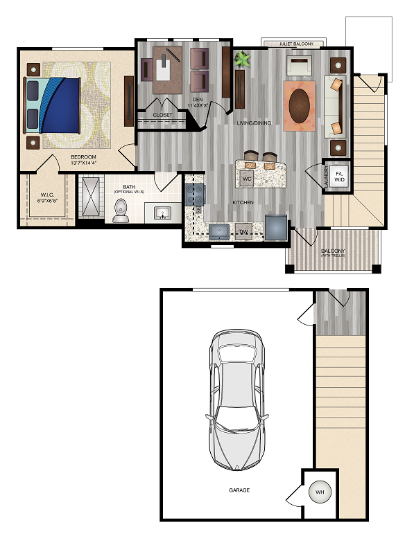 The Vue at Creve Coeur - Floorplan - Carriage House 2