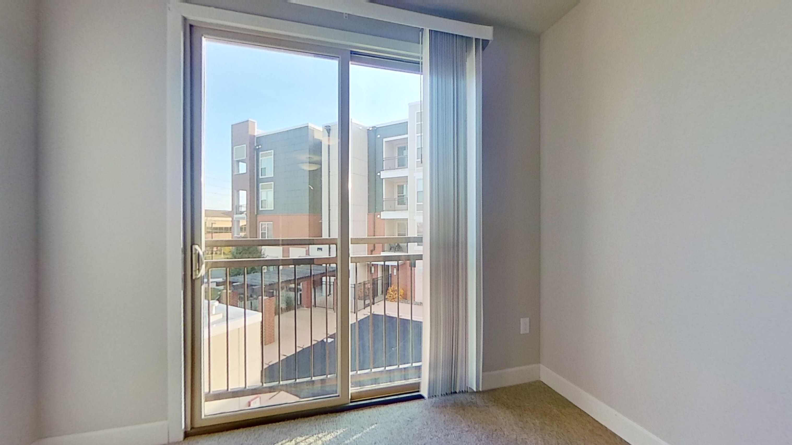 A2 Unit Balcony Access at the Vue at Creve Coeur Apartments in Creve Coeur, MO