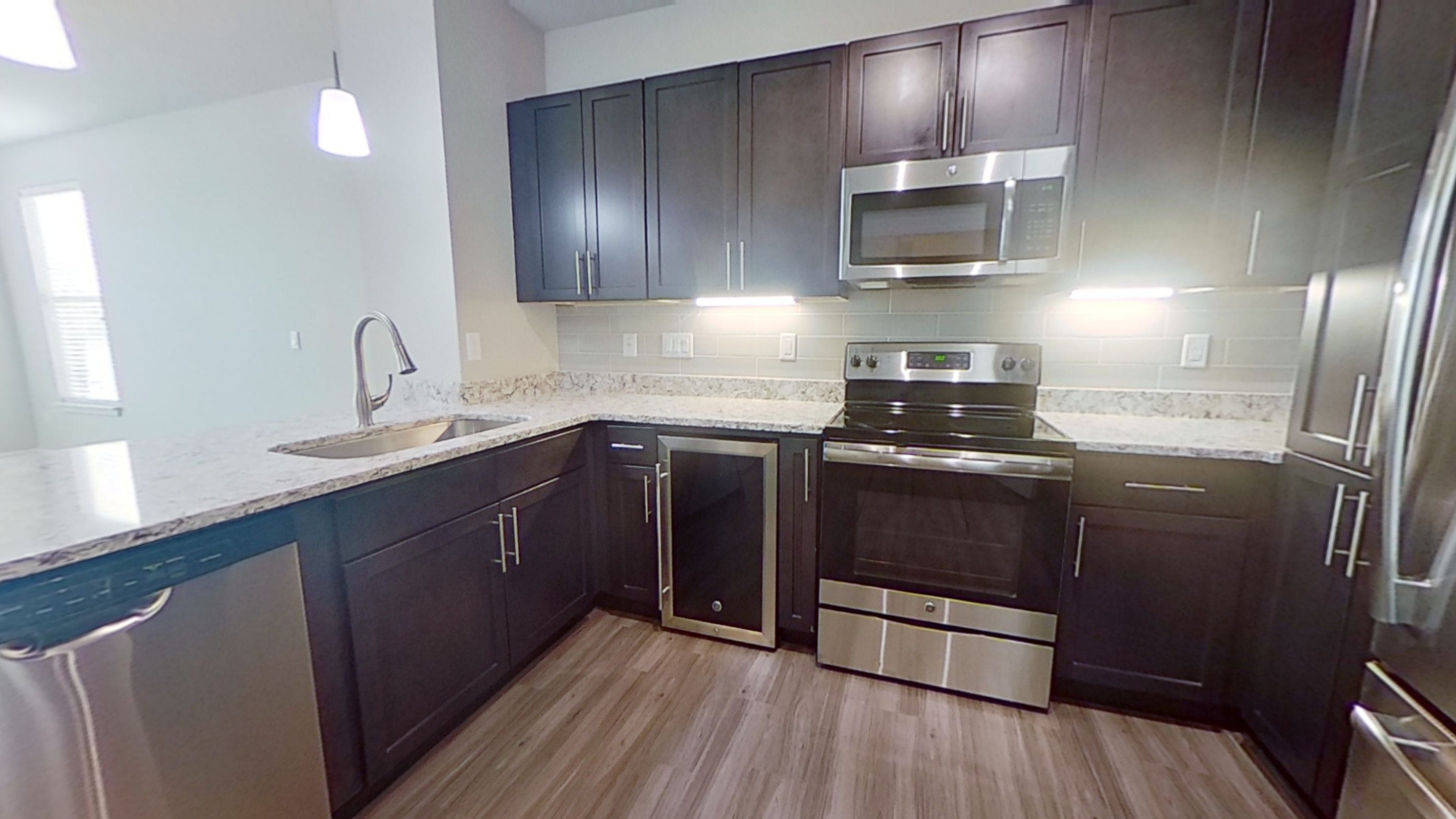 A2 Unit Kitchen at the Vue at Creve Coeur Apartments in Creve Coeur, MO