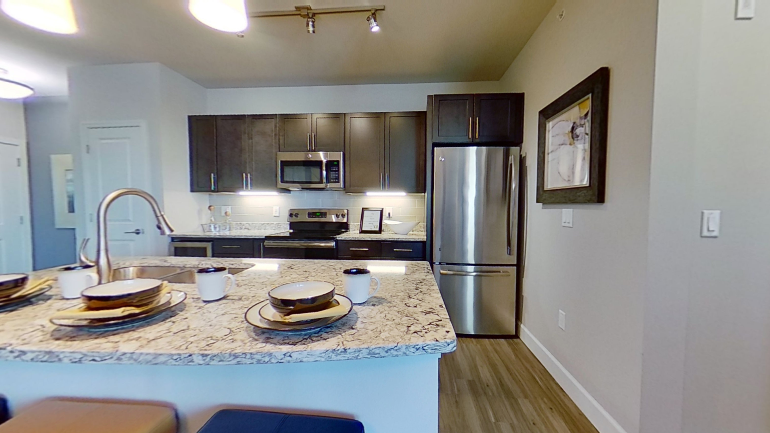 A3 Unit Kitchen at the Vue at Creve Coeur Apartments in Creve Coeur, MO