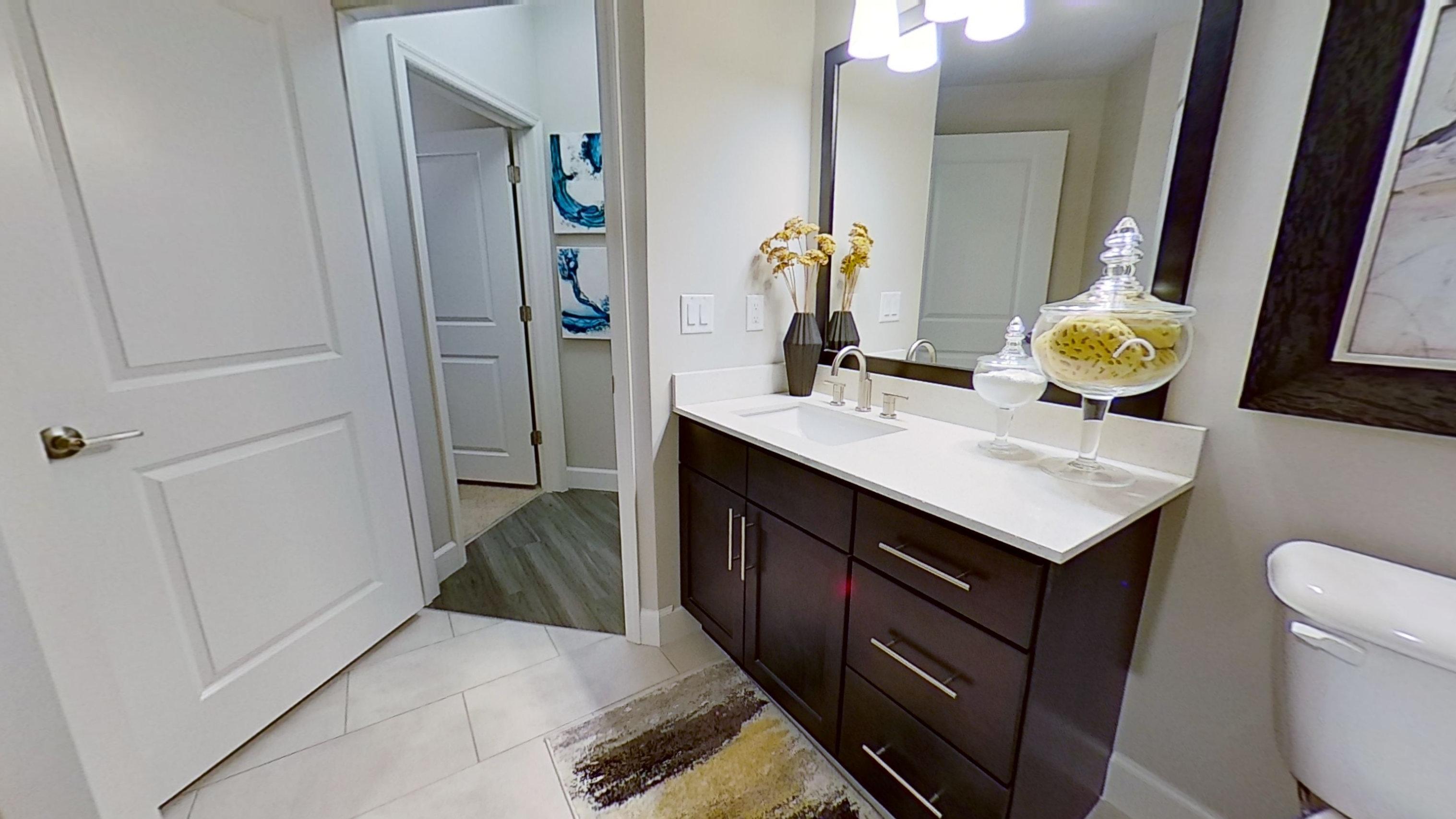 A3 Unit Bathroom at the Vue at Creve Coeur Apartments in Creve Coeur, MO