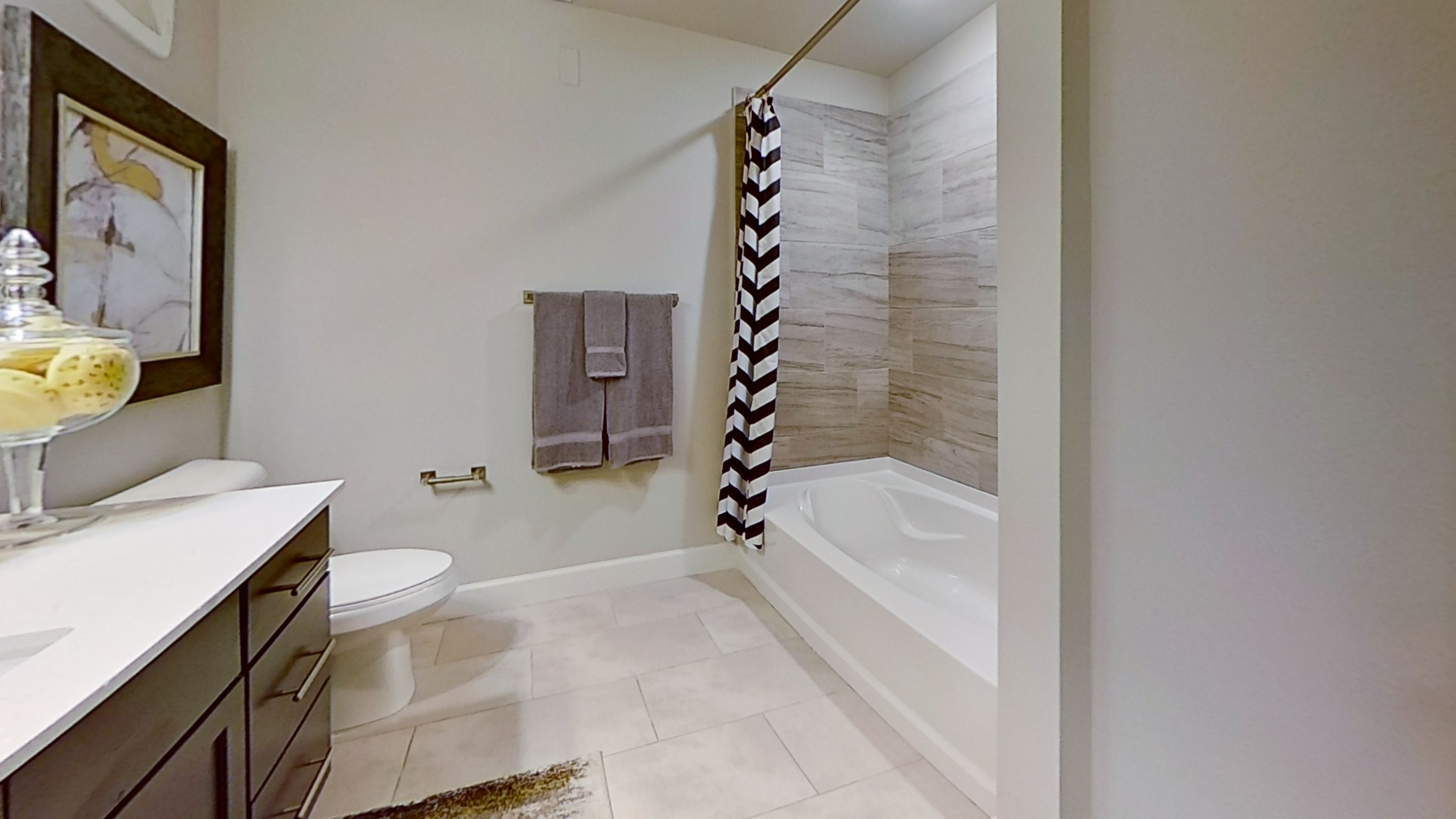 A3 Unit Bathroom at the Vue at Creve Coeur Apartments in Creve Coeur, MO